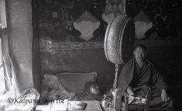 Tibetan monk Shalu monastery Tibet