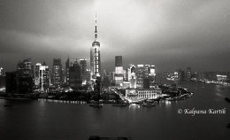 Twilight in Shanghai China