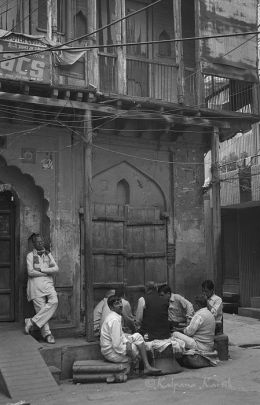 The card players Old Delhi