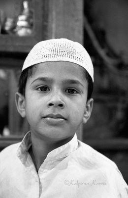 Boy in the Muslim quarter of Old Delhi India