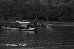 Fishing boats on the island of Flores Indonesia