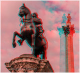 Charles 1st Statue & Nelsons Column At Trafalgar Square