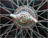 MG Wire Wheel And Badge Detail