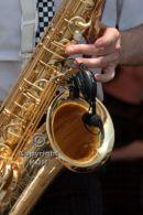 Sax player close up