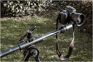 Nikon D3000 Mounted On Benbo Tripod Adapted For 3D.