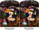 Snowman Stereocard