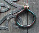Ancient door handle on St Nicholas Church door, New Romney.