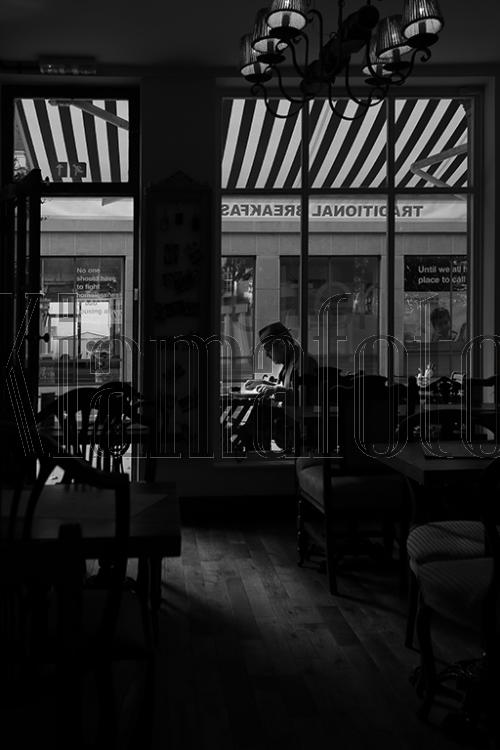 Breakfast Break in Black and White
