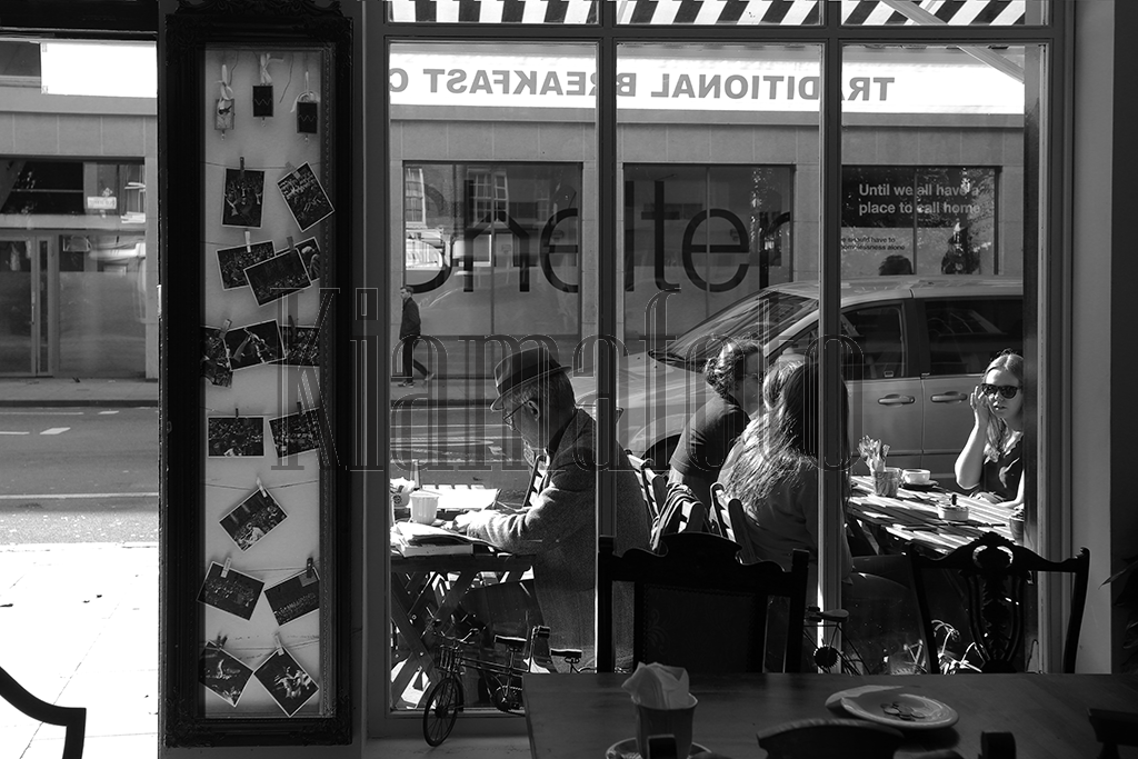 The Cafe in Black and White