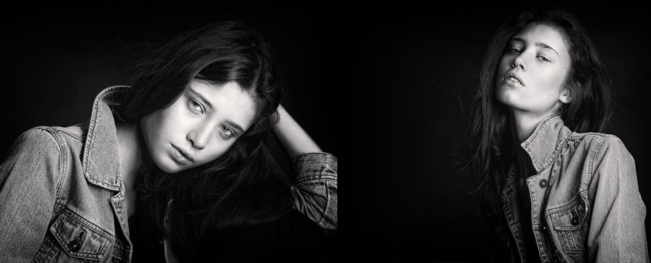 Fashion model portfolio shoot