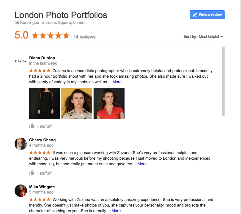 London Photo Portfolios - reviews