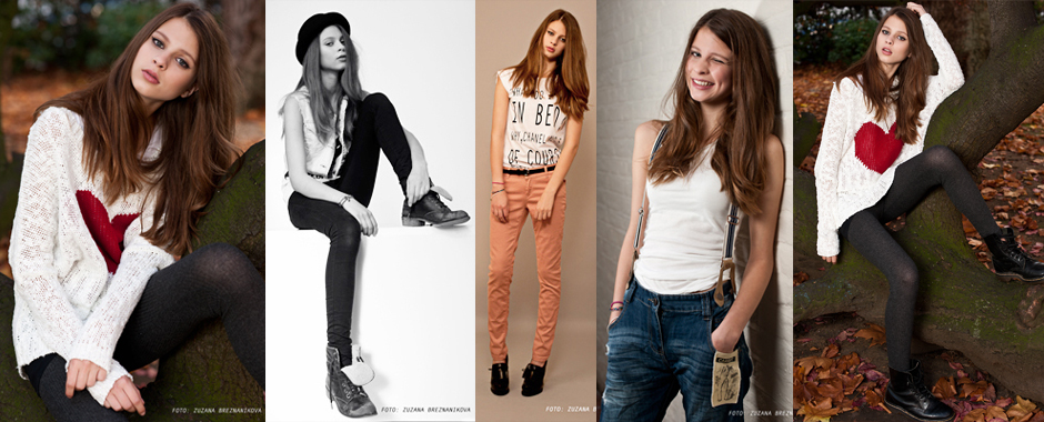 Female model portfolio - Ellie J. @ Select Models