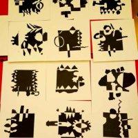 Japanese Notan Collage