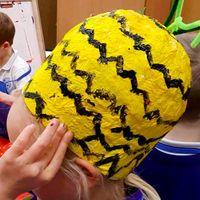Papier Mache Pineapple Hat