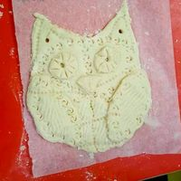 Salt Dough Owl Imprinting