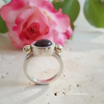 =RUBY CABOCHON RING=