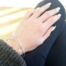 = INTERLOCKED BANGLES = £62