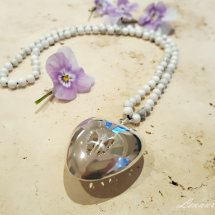 =HOLLOW SILVER HEART =  £73