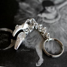 =BALLERINA SLIPPERS KEY RING=