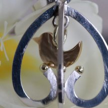=SILVER CAGE WITH GOLDEN BIRD=