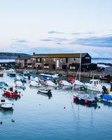 Lyme Regis harbour - (The Cobb) at dusk.