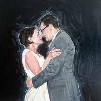 First Dance Portrait Painting