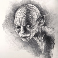 Gollum Pencil Sketch