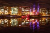 The Jeanie Johnston and River Liffey, Docklands, Dublin