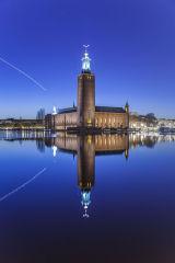 Stadshuset (City Hall) and Lake Mälaren, Stockholm, Sweden