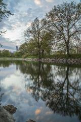 Slottsparken (Castle Park) and Turning Torso, Malmö, Sweden