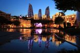 Niyazi Kuc and the Flame Towers, Baku, Azerbaijan