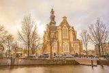 Westerkerk and Homomonument, Keizersgracht, Amsterdam, The Netherlands
