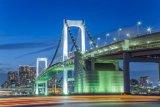 The Rainbow Bridge, Tokyo Harbour, Tokyo, Japan