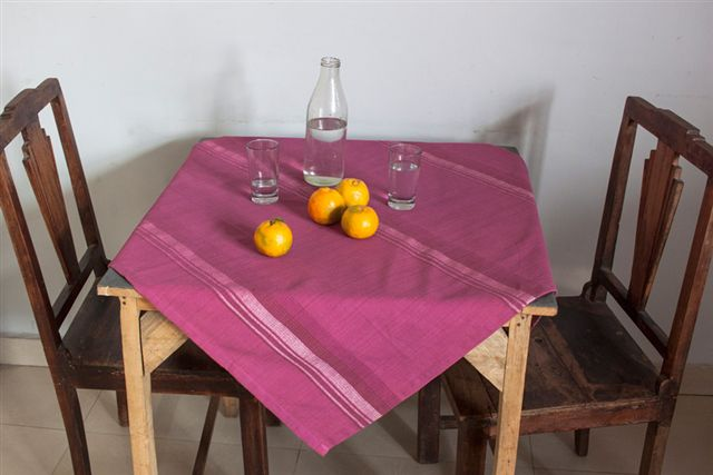 2215255-Hand Woven Cotton Tablecloth