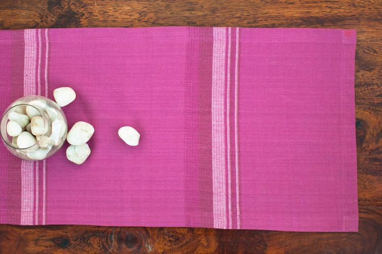 2218272-Hand Woven Cotton Table Runner