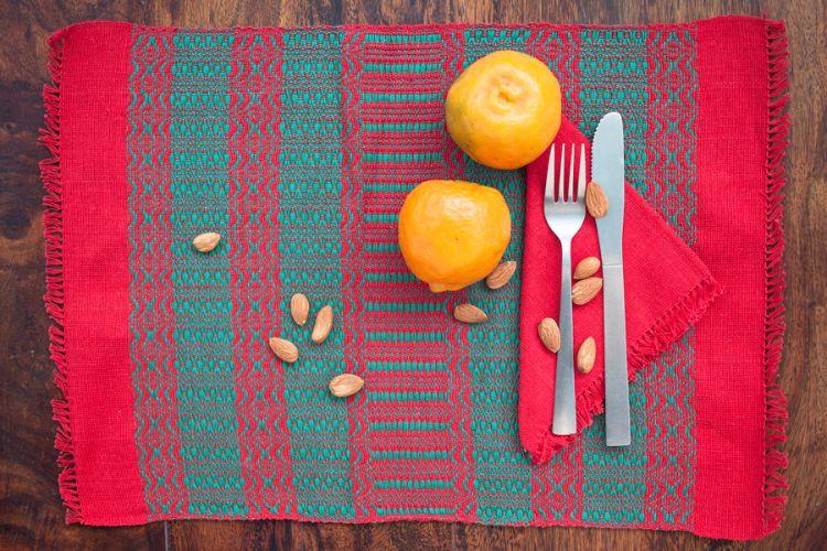 2518286 Hand Woven Cotton Placemat & Napkin Set