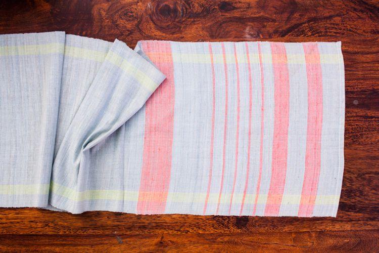 2818277-Eri Silk Hand Woven Table Runner