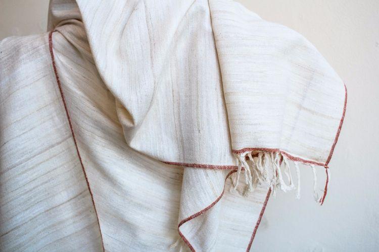2822327-Eri Silk  Hand  Spun  &  Hand Woven