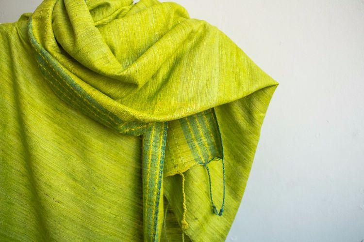 2822342-Eri Silk  Hand  Spun  &  Hand Woven