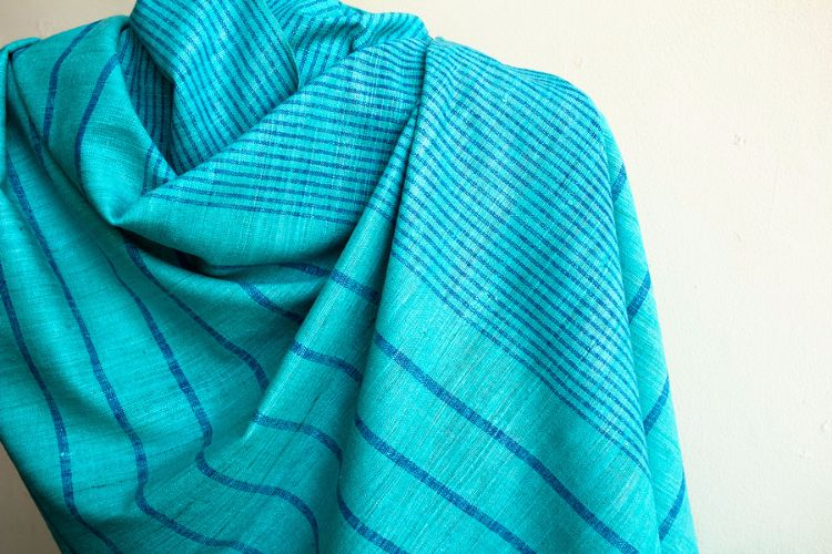 2822448-Eri Silk  Hand  Spun  &  Hand Woven