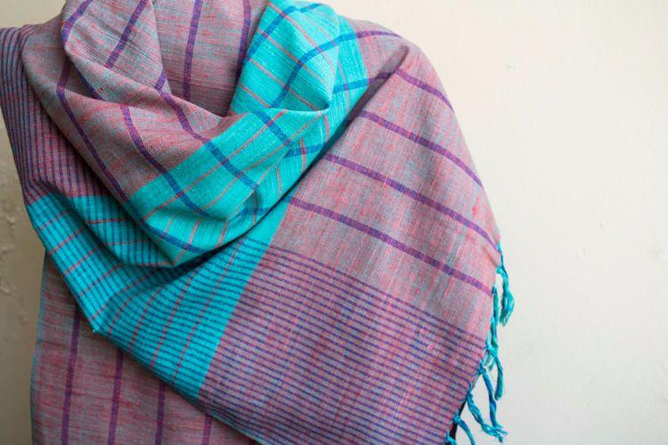 2822449-Eri Silk  Hand  Spun  &  Hand Woven