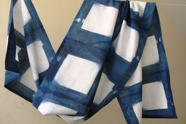 2822509-Indigo Cotton Scarf