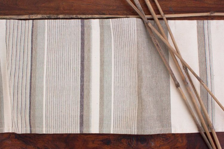 6918272-Hand Woven Cotton Table Runner