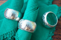 7612157- Silver Plated Brass Napkin Rings