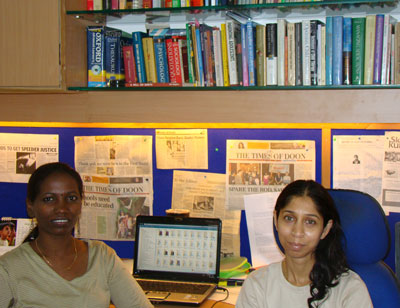 T. Mary Rani (L) and Aparna Massey