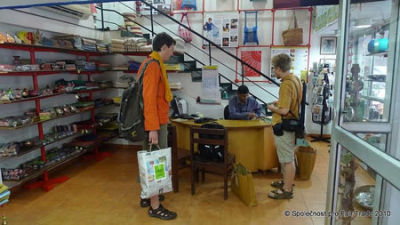 Tomas and Vasek from Czech Society for Fair Trade in MESH shop in Delhi