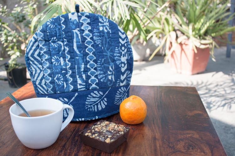 Indigo Cotton Tea Cosy