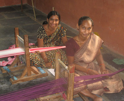 Krupa and Esther, Bethany Leprosy Colony Weavers