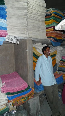 Noel in the storeroom at KKM
