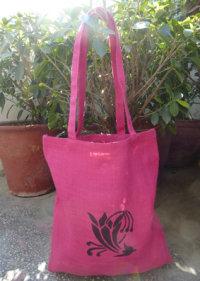 Jute Shoulder Bag Printed - 1411649